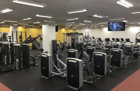 Exercise equipment at gym